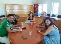 Συνάντηση με τον Εντεταλμένο Σύμβουλο Παιδείας και τις                        Σχολικές Επιτροπές του Δήμου Μαλεβιζίου